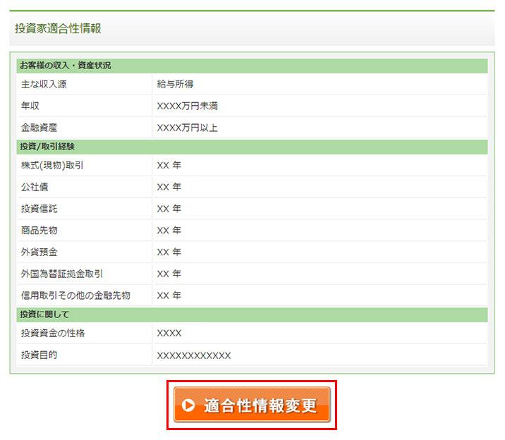 my maneo-投資家適合性情報